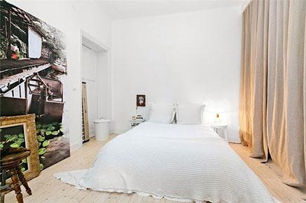 Schlafzimmer ideen stilvolle wohnung Stockholm