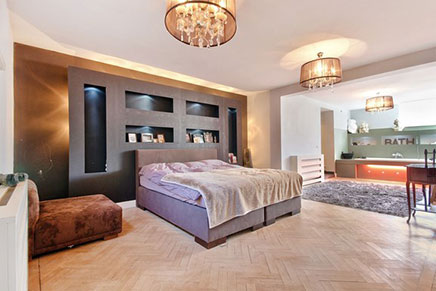 Schlafzimmer Maisonette-Wohnung mit luxuriöser Ausstattung ...
