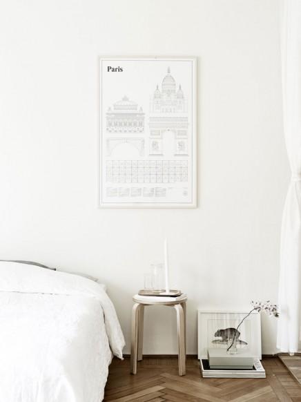 schlafzimmer mit einer mischung aus skandinavischen und
