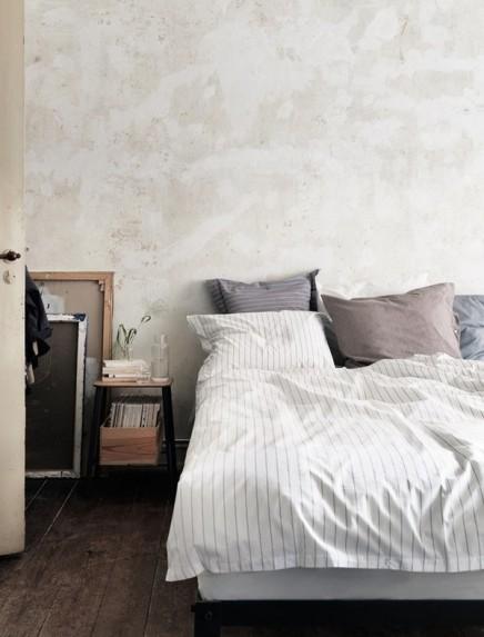 Schlafzimmer mit Vintage-Industrie-Look