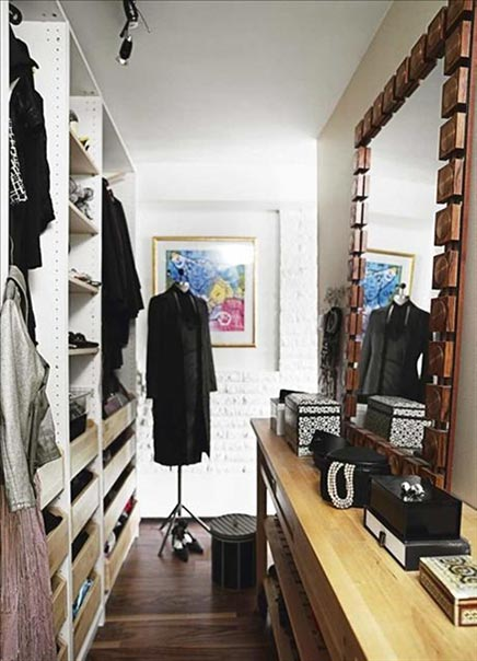Schmale IKEA Begehbarer Kleiderschrank