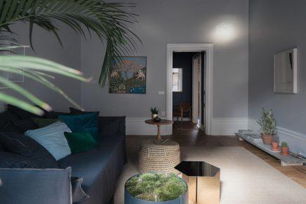 sch ne blaue grauen wohnzimmer wohnideen einrichten. Black Bedroom Furniture Sets. Home Design Ideas