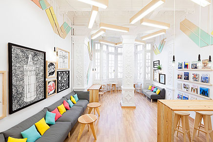 Schöne Design-Schule in Valencia