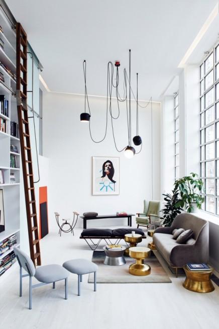 schone-loft-wohnzimmer-vintage-mobeln-eingereichtet