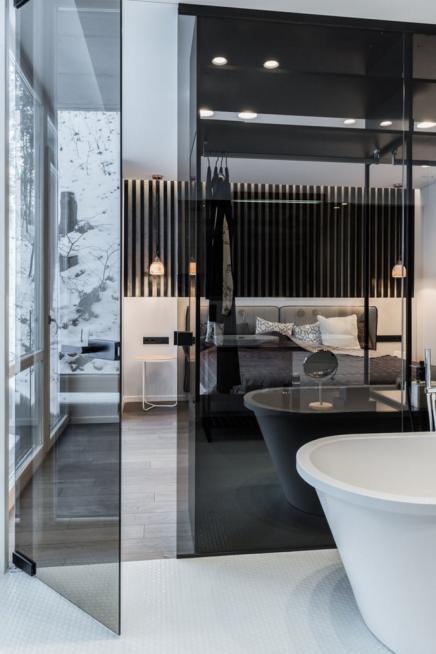 Schöne Luxus-Schlafzimmer-Suite Badezimmer | Wohnideen ...