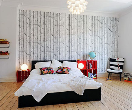 sch ne schlafzimmer tapeten wohnideen einrichten. Black Bedroom Furniture Sets. Home Design Ideas