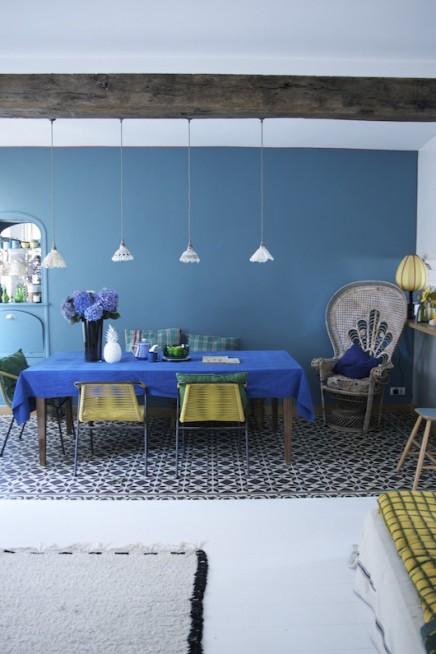 Schönes Wohnzimmer mit Französisch Innenarchitektin Anne Milet ...