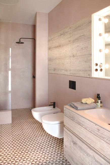 die sch nste rosa badezimmer wohnideen einrichten. Black Bedroom Furniture Sets. Home Design Ideas