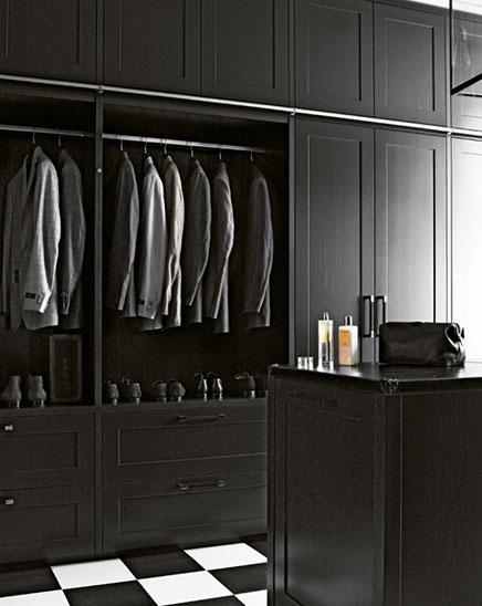 Schwarz Begehbarer kleiderschrank für Männer