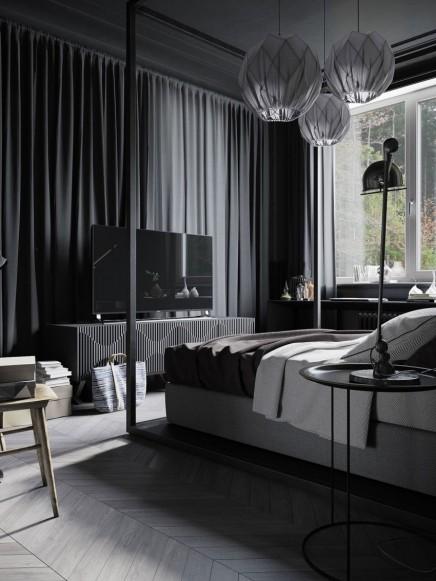 Wohnideen Mann schwarz schlafzimmer für mann wohnideen einrichten