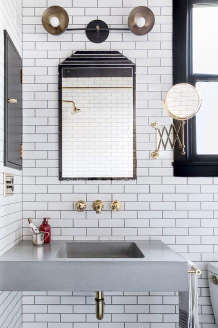 Schwarz wei badezimmer durch innenarchitekt katie for Badezimmer innenarchitekt