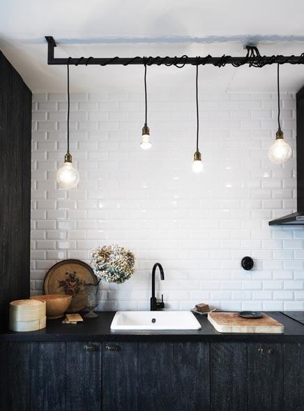 Schwarze Küche von Innenarchitektin Ugland