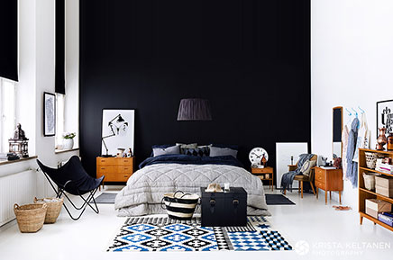 schwarze w nde wohnideen einrichten. Black Bedroom Furniture Sets. Home Design Ideas