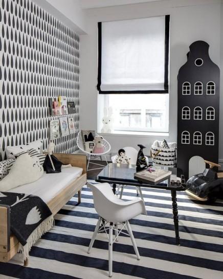 Schwarze und weiße Kinderzimmer von Adrienne | Wohnideen ...