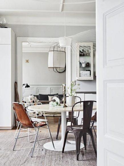 skandinavisch eklektisch wohnung des schwedischen. Black Bedroom Furniture Sets. Home Design Ideas