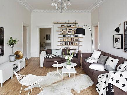 Skandinavische wohnzimmer mit authentischen neue details for Neues zimmer einrichten