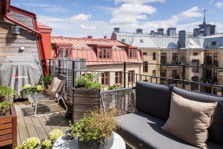 Sonnigen balkon terrasse von 10m2 wohnideen einrichten for 30m2 wohnung einrichten