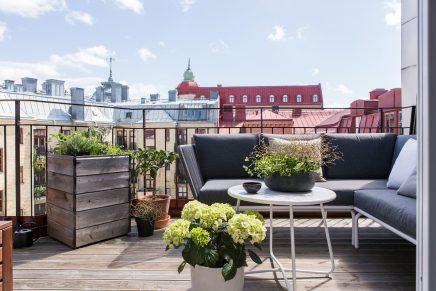 sonnigen balkon terrasse von 10m2 wohnideen einrichten. Black Bedroom Furniture Sets. Home Design Ideas