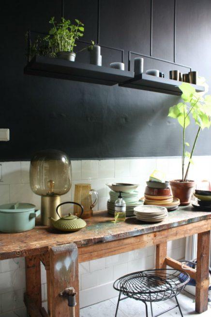 Stabile Werkbank in der Küche