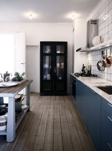 Stilvolle blau Küche