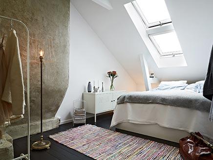 Swedish Schlafzimmer im Dachgeschoss
