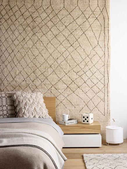 Teppich an der Wand