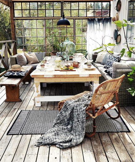 Terrasse Mit Einem Vintage Atmosphare Eingerichtet Wohnideen