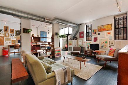 Vintage Wohnzimmer Loft in New York