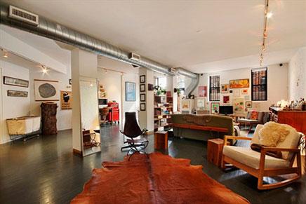 vintage wohnzimmer loft in new york wohnideen einrichten. Black Bedroom Furniture Sets. Home Design Ideas