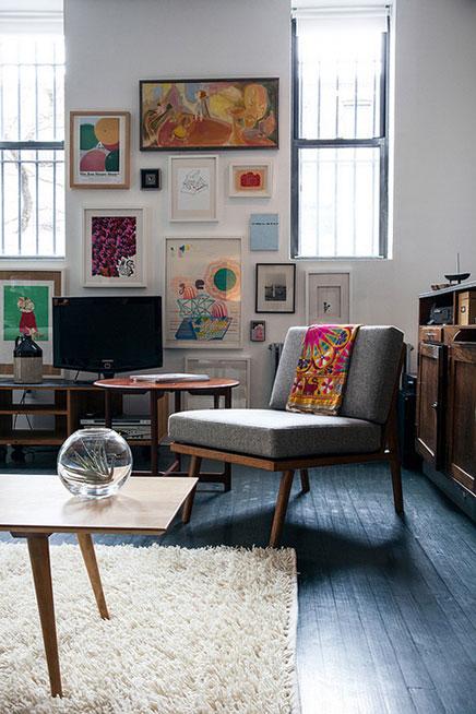 vintage bilder wohnzimmer:Vintage Wohnzimmer Loft in New York