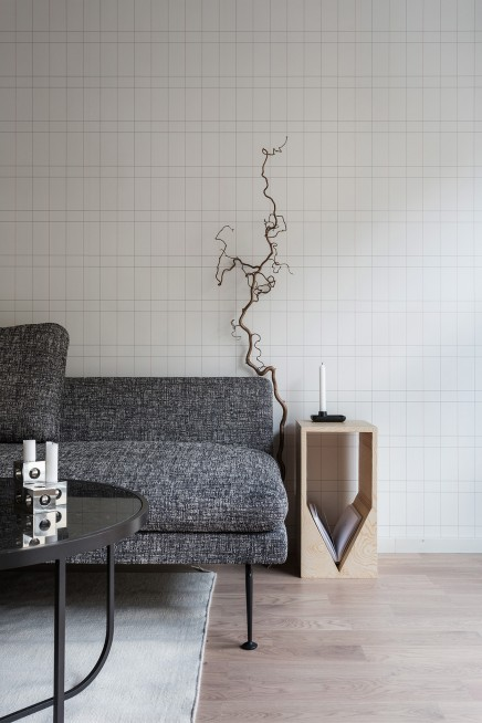 Vollst ndige moderne wohnzimmer mit sch ne tapete wohnideen einrichten - Schone wohnzimmer bilder ...