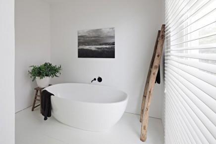 Weiß rustikalen badezimmer