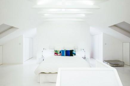 Weiß Schlafzimmer Badezimmer Kombination Dachgeschoss | Wohnideen ... Offenes Badezimmer Im Dachgeschoss