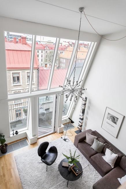 Wohnzimmer mit einem fünf Meter hohen Decke | Wohnideen einrichten