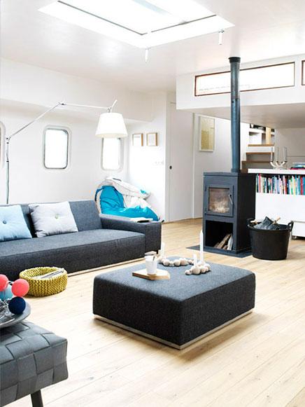 Wohnzimmer ideen von einem Hausboot