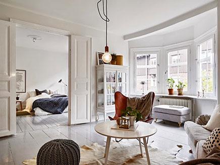 Vintage wohnideen wohnzimmer  Wohnzimmer mit Mischung aus skandinavischen, Vintage und Industrie ...