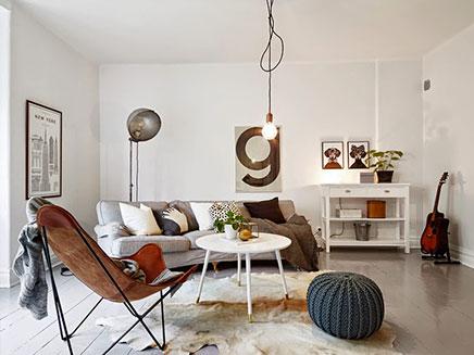 wohnzimmer mit mischung aus skandinavischen vintage und industrie wohnideen einrichten. Black Bedroom Furniture Sets. Home Design Ideas