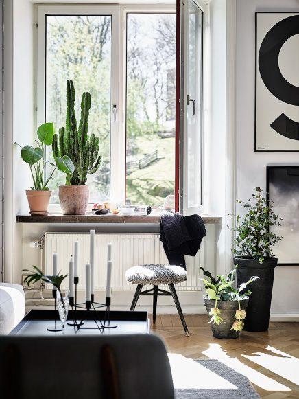 Wohnzimmer mit einer mischung aus skandinavischen und for Wohnzimmer einrichten vintage